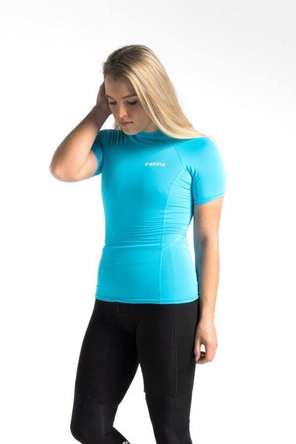 C-Skins Womens Basic Short Sleeve Rash Vest